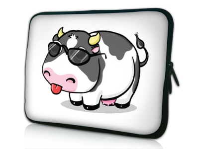 10 1  TABLET PC SLEEVE BAG CASE SAMSUNG GALAXY TAB 2 10 1 FUNNY COW